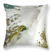 Niagara Falls On The Rocks Throw Pillow