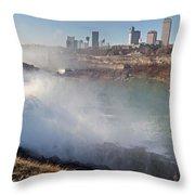 Niagara Falls Panorama Throw Pillow