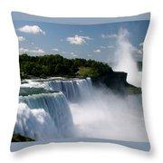 Niagara Falls Throw Pillow by Sandy Fraser