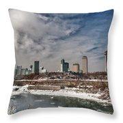 Niagara Falls The City 4534 Throw Pillow