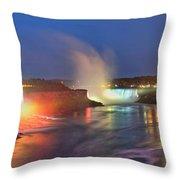 Niagara Falls Ultra Wide Panorama Throw Pillow