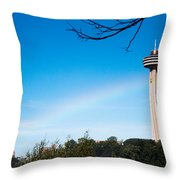 Niagara Landmarks Throw Pillow