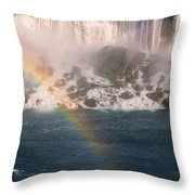 Niagara Rainbow Throw Pillow