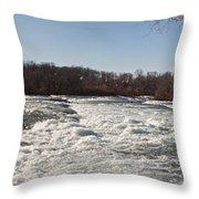 Niagara Rapids Throw Pillow