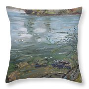 Niagara River Spring 2013 Throw Pillow