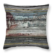 Niagara Spray Beer Throw Pillow