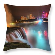 Niagara Starbust Skyline Panorama Throw Pillow