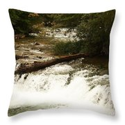 Niagra River Just Before The Falls Throw Pillow