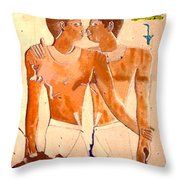 Niankhkhnum And Khnumhotep  Throw Pillow