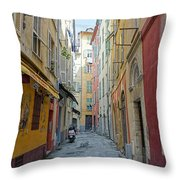Nice Alley Throw Pillow