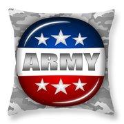 Nice Army Shield 2 Throw Pillow