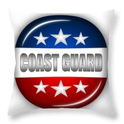 Nice Coast Guard Shield Throw Pillow