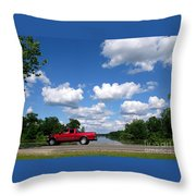 Nice Day For A Drive Throw Pillow