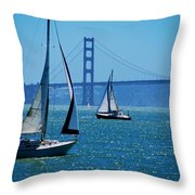 Nice Day On The Bay Throw Pillow