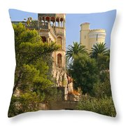 Nice - France - A Multiple Of Facets Throw Pillow by Christine Till