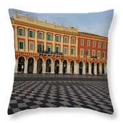 Nice France - The Cheerful Colors Of Place Massena Throw Pillow