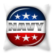 Nice Navy Shield Throw Pillow