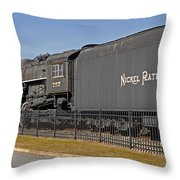 Nickel Plate Road Throw Pillow