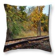 Nickel Plate Train Tracks Throw Pillow