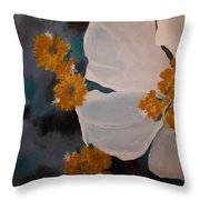 Nicole's Flower Throw Pillow