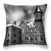 Nicolet School In Black And White Throw Pillow
