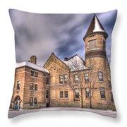 Nicolet School In High Dynamic Range Throw Pillow