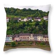 Niederheimsbach Am Rhein Throw Pillow