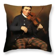 Niel Gow - Violinist And Composer Throw Pillow