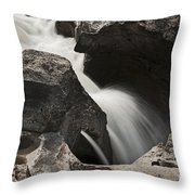 Nigel Creek Waterfall Detail Throw Pillow