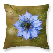Nigella Damascena Throw Pillow