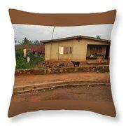 Nigerian House Throw Pillow