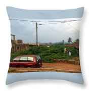 Nigerian Mountains In The Distance Throw Pillow