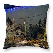 Night After The Ice Storm Throw Pillow