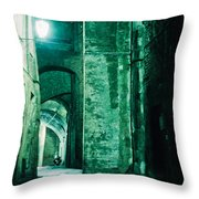 Night Alley In Old City Of Siena Tuscany Italy Throw Pillow