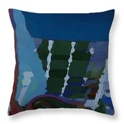 Night At Granville Island Throw Pillow