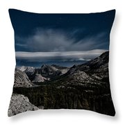 Night At Olmstead Point Throw Pillow by Cat Connor