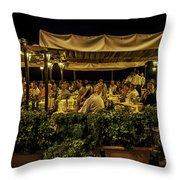 Night At The Cafe - Taormina - Italy Throw Pillow