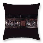 Night At The Durango Roundhouse Throw Pillow