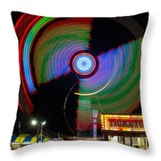 Night At The Fair Throw Pillow