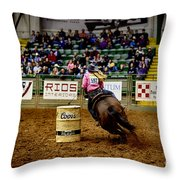 Night At The Rodeo V23 Throw Pillow