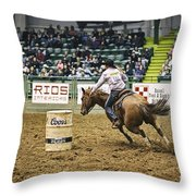 Night At The Rodeo V25 Throw Pillow