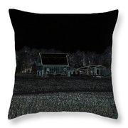 Night Barns Throw Pillow