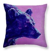 Night Bear Throw Pillow