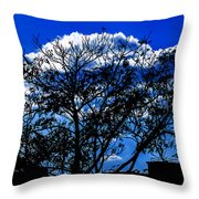 Night Blues Throw Pillow