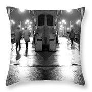 Night Bridge Throw Pillow