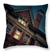 Night Building Throw Pillow