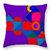 Night Color Throw Pillow