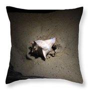 Night Conch Throw Pillow by Ella Char