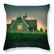 Night Cottage Throw Pillow