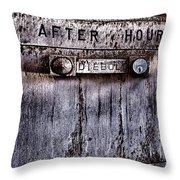 Night Deposit  Throw Pillow